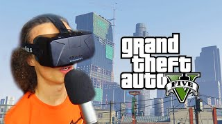 Repeat youtube video GTA 5 IN VIRTUAL REALITY (GTA 5 Oculus Rift)