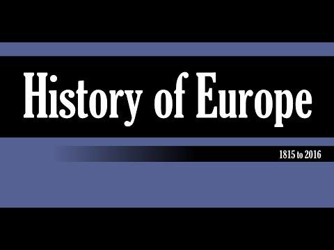 Europe 1815-2016