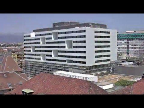 Nouveau Bâtiment d'hospitalisation. Timelaps échafaudages