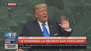 Trump(ONU):«Le coût de la migration est assumé par des citoyens ignorés des médias»(19/09/17,16h29)