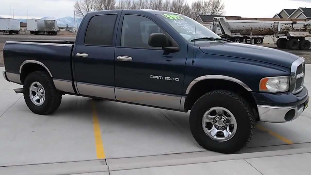 2002 dodge ram 1500 for sale quad cab 4x4 laramie slt youtube. Black Bedroom Furniture Sets. Home Design Ideas