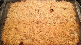 Apple Crumble With Oats, Quick And Easy Dessert