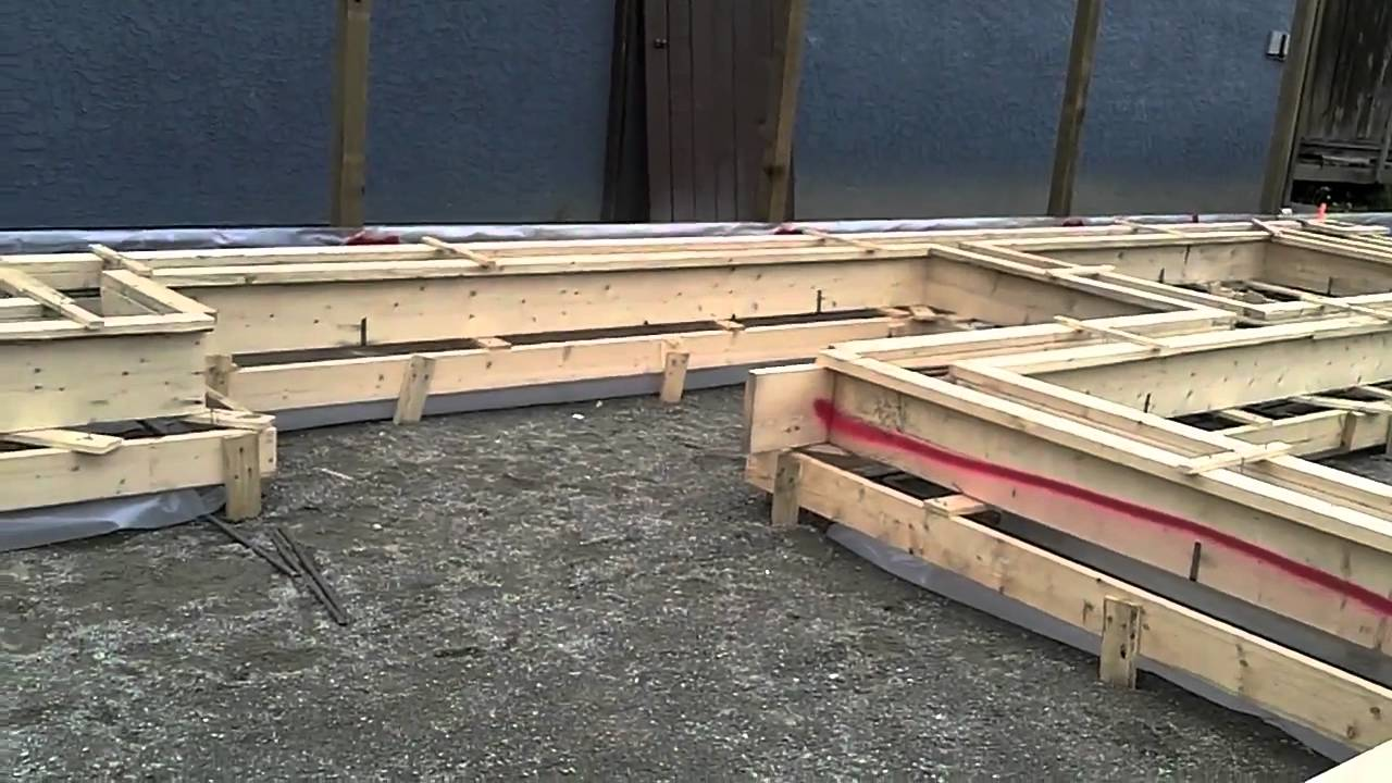 Rebar Installed In Forms Ready For Concrete Youtube