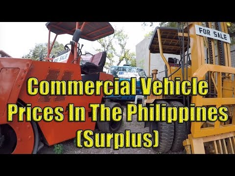 Commercial Vehicles Prices In The Philippines (Surplus)