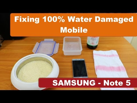 How to fix 100% water damaged Mobile | Samsung Galaxy Note 5 Tested