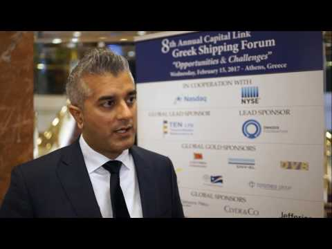 2017 8th Annual Greek Shipping Forum Interview-Jasel Chauhan