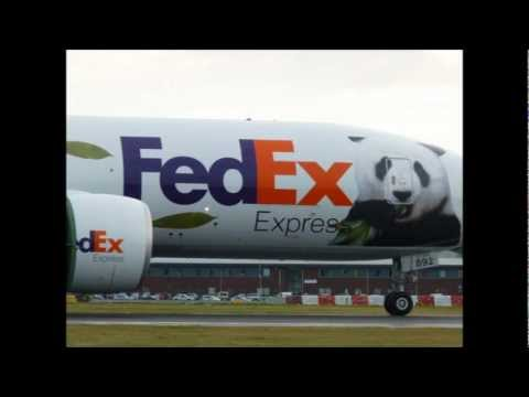 FedEx 'Panda Express' Boeing 777F | National Airlines DC-8 | Edinburgh Airport 2011