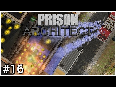 Prison Architect Update 12 - #16 - Fire, Water & Electricity - Let's Play / Gameplay / Construction