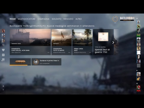 Battlefield 1 - TURNING TIDES - Anteprima PREMIUM - Live Streaming ITA