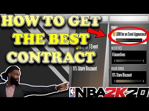 NBA 2K20 MY CAREER - HOW TO GET THE BEST SHOE DEAL (FIRST CONTRACT!)