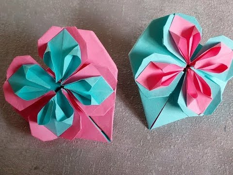 Relativ Papierherz. Herz aus Papier falten. DIY Muttertagsgeschenke MS62