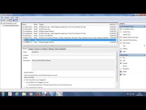 Remove RocketTab startup error in Windows