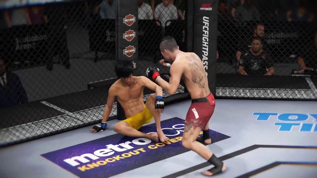 Teruto Ishihara vs. Bruce Lee (EA Sports UFC 3) - CPU vs. CPU