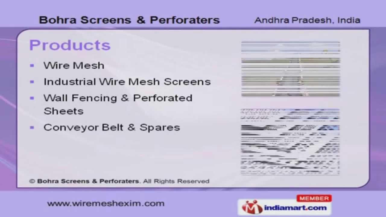 wire mesh u0026 screens by bohra screens u0026 perforaters hyderabad
