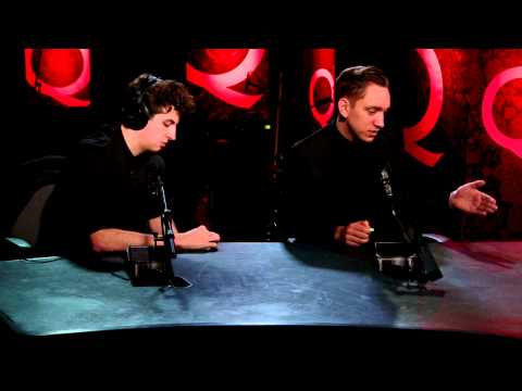 Romy, Oliver and Jamie of The xx in Studio Q