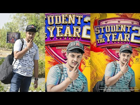 Student of the years 2 Movie poster Editing Photoshop tutorial   Tiger Shroff   thumbnail