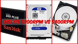 Hard Drive Comparison: SSD vs 7200RM vs 5400RPM