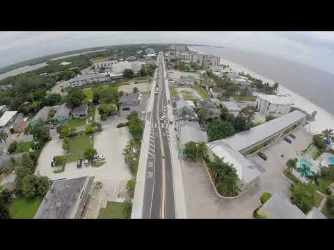 Fort Myers Beach Pre Hurricane Irma Drone Footage.