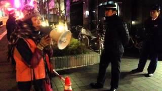 20121115 不当逮捕に抗議@西堺警察署 大阪府警IWJ_OSAKA2