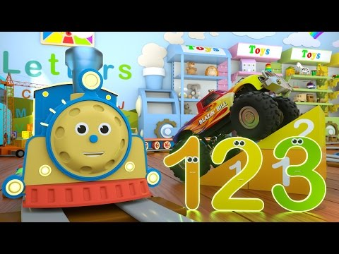 Learn Numbers with Max the Train & Bill the Monster Truck – TOYS Numbers and Toys
