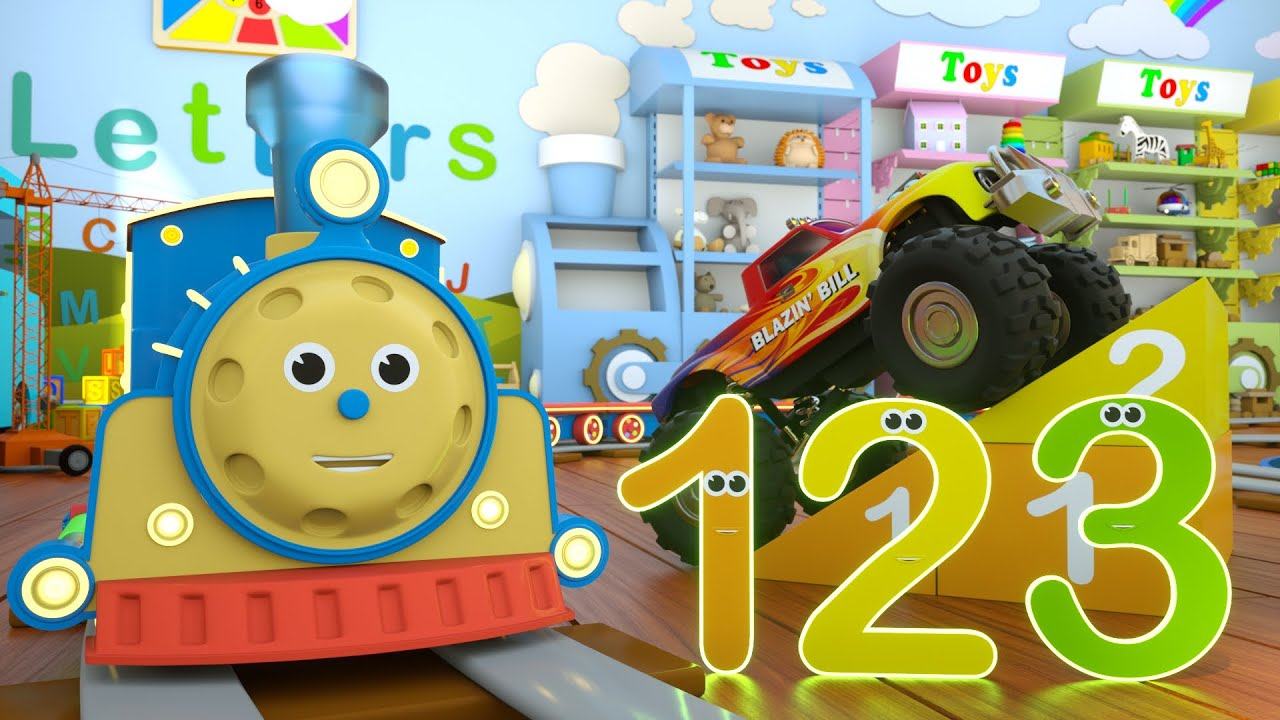 Learn Numbers with Max the Train & Bill the Monster Truck – TOYS