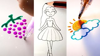 EASY DRAWING TRICKS FΟR PERFECT DRAWINGS. AWESOME DRAWING TUTORIAL