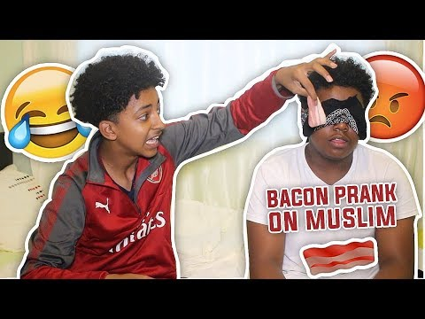BACON PRANK ON MUSLIM! (GONE WRONG)