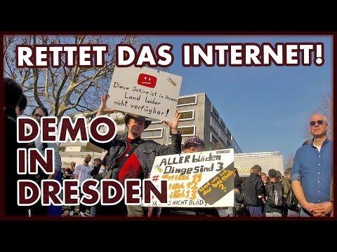 Demo in Dresden: Artikel 13 und Uploadfilter