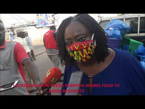 LOCKDOWN: Madam Freda Prempeh provides food for up to 400,000 individuals and homes