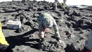 Pushups at Uhuru Peak of Kilimanjaro