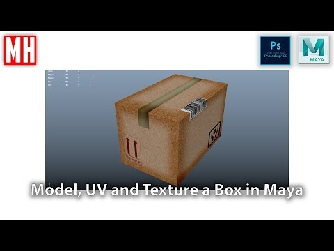 Building a 3D asset library Part 3 : Cardboard Box ( Model, UV, Texture )
