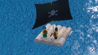 Pirate raft made with wine corks