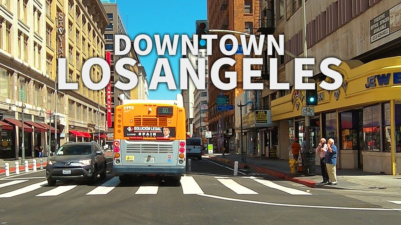 (Full Version) LOS ANGELES - Driving Downtown Los Angeles, California, USA, 2.7K