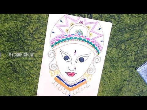 DIY Diwali Home Decor Ideas -Ornaments to decorate God Photo - Mycraftshow