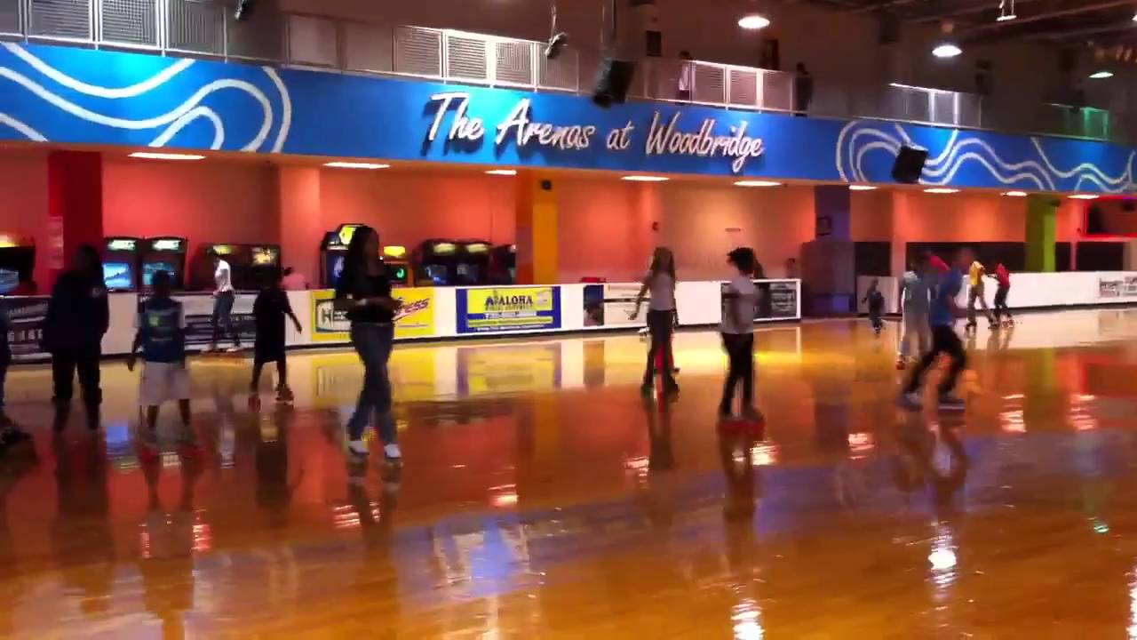 Skating rink with tahira and fam