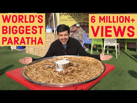 Biggest Paratha of the World l 32 Inch Paratha l Jaipur Paratha Junction