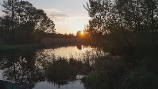ПОКАТУШКА НА ВЕЛОСИПЕДІ. Їду в Івачів на річку. Рибалка перед заходом сонця