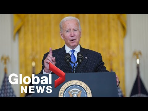 Biden announces 2 biggest US ports to operate 24/7 to ease supply chain disruption   FULL