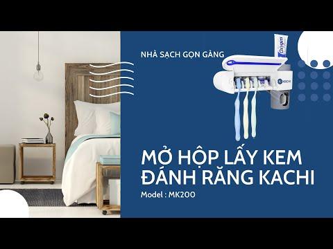Giá treo bàn chải lấy kem đánh răng khử trùng bằng tia UV Kachi MK-200