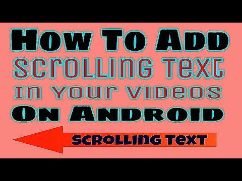How to add scrolling/ moving text to video in android mobile | Kinemaster |  animation effect on text