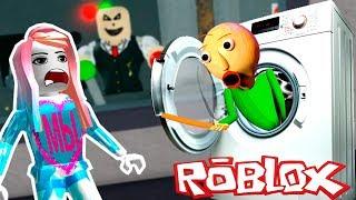 Балди устроил СТИРКУ в Роблокс! Катя и ПАПА играют в уборку на Мы Играем