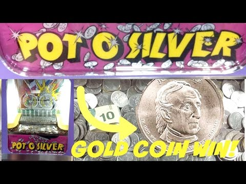 Coin Pusher Winning A $1 Gold Coin At Pot O Silver & More Excitement! Arcadejackpotpro