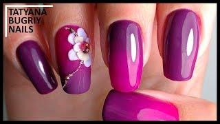 Градиент Кистью♥Лепка на ногтях 4D гелем UNO♥Аппаратный маникюр♥Гель лак под кутикулу