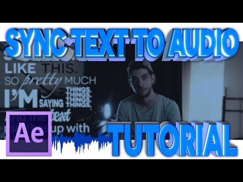 Sync Text to Audio -  After Effects Tutorial