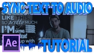 Sync Text to Audio -  After Effects Tutorial Mp3