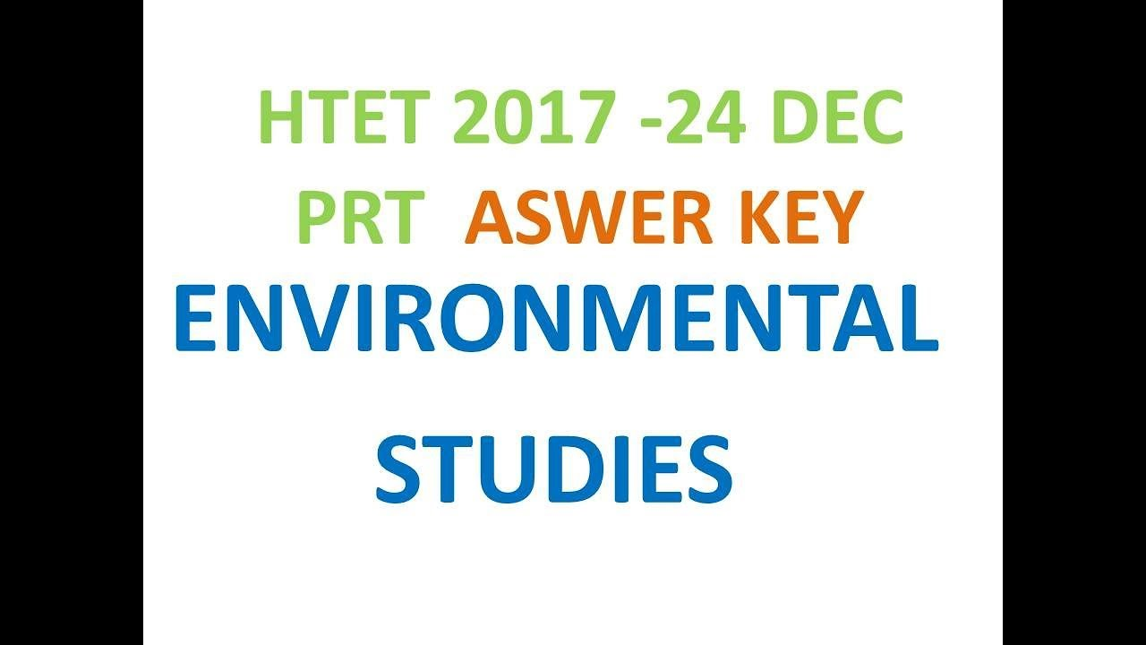 HTET EXAM 24 DECEMBER ENVIRONMENTAL STUDIES ANSWER KEYS ...
