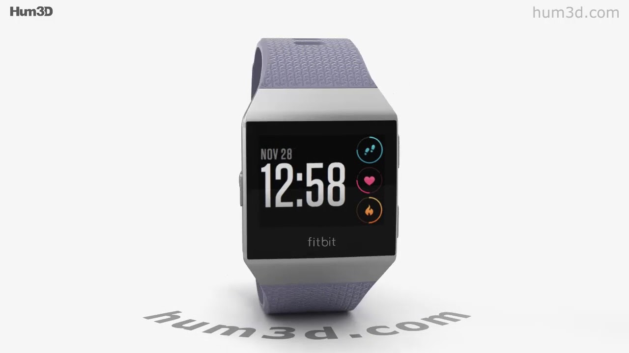 Fitbit Ionic Silver Gray 3d Model By Hum3dcom Youtube Charcoal Smoke