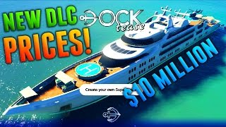 GTA Online: ALL NEW DLC PRICES - Yachts, Apartments, & Car Costs! (GTA 5 New DLC Prices)