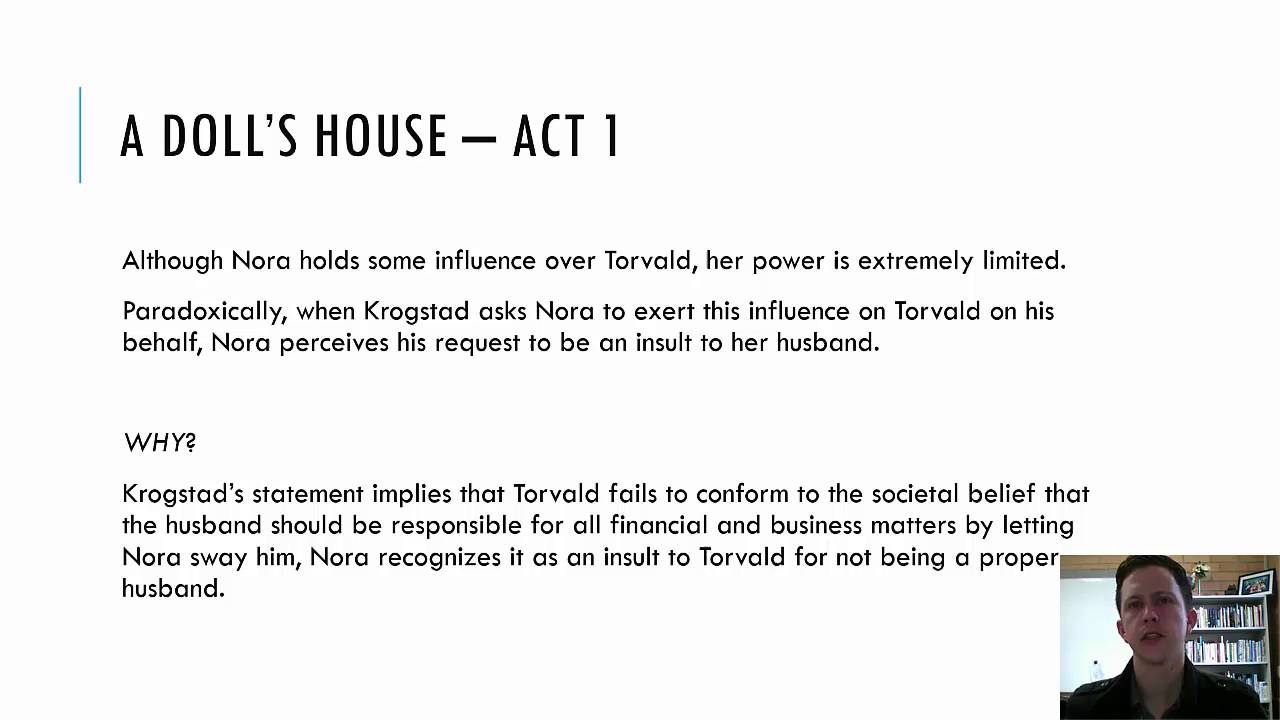 a dolls house act i character analysis See full summary » director: patrick garland writers: henrik ibsen (play search for a doll's house on amazoncom share this rating title: a doll's house (1973) 65 /10 want to share imdb's rating on your own site use the html.