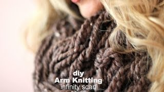 DIY Arm Knitting Scarves (Hand Knitting Scarf) Thumbnail